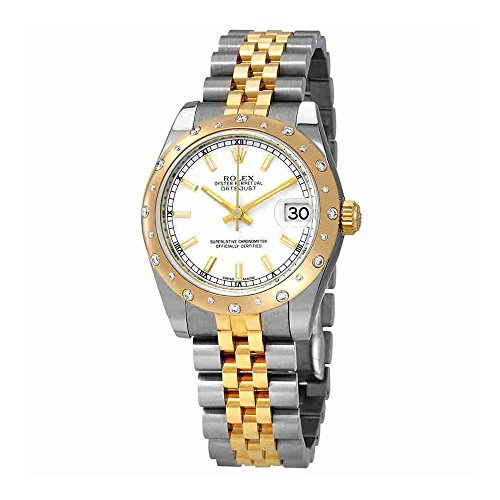 Rolex Datejust White Dial Automatic Ladies Steel and 18ct Yellow Gold Jubilee Watch 78343WSJ