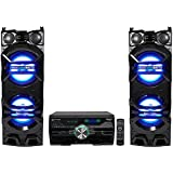 (2) Technical Pro Dual 10 1500w Speakers w/LED Lights + DVD Receiver Amplifier