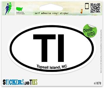 """ENC Eastern North Carolina Oval car window bumper sticker decal 5/"""" x 3/"""""""