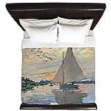 CafePress - Monet Sailboat French Impressionist - King Duvet Cover, Printed Comforter Cover, Unique Bedding, Microfiber
