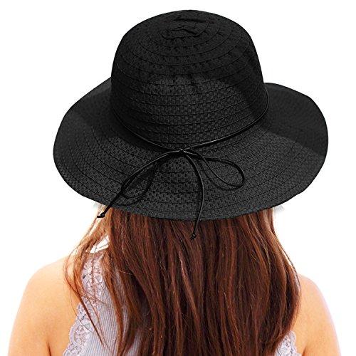 f372721c78064 Double Couple Linen Wide Brim Summer Beach Sun Hat For Women Foldable Travel  Packable UV Bucket