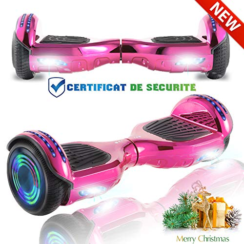 """CHIC Hoverboard 6.5"""" Patinete Eléctrico Bluetooth Monopatín Scooter"""