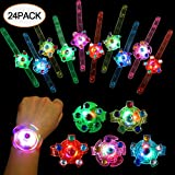 Toys : SCIONE Party Favors for Kids 24 Pack Light Up Bracelets Classroom Prizes Box Glow in The Dark Party Supplies Girls Boys Birthday Halloween Christmas Party Favor Wristband LED Fidget Toys Bulk