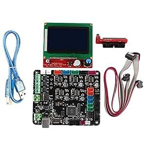 WOVELOT Kit De Placa Base para Impresora 3D Mks Base V1.6 + ...