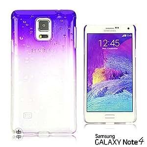 OnlineBestDigital - Transparent Gradient Water Drop Design Hard Back Case for Samsung Galaxy Note 4 - Purple