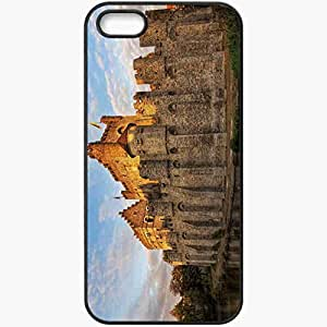 Protective Case Back Cover For iPhone 5 5S Case Belgium Castle Ditch Black