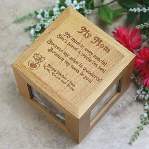 Personalized Mother's Day Photo Cube - Because My Mom Is You, 4.5