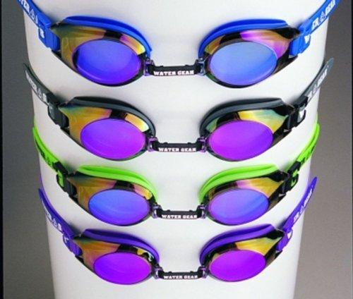 (Water Gear FINALIST Swim Goggles Anti-fog for Competition - METALLIC PURPLE )
