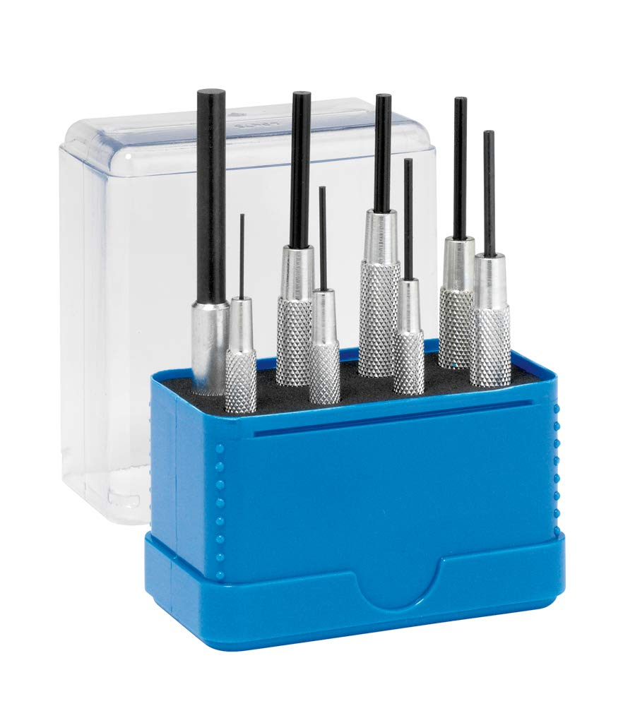 Rennsteig Parallel Pin Punches with Sleeve (Pin Remover Tools) - 8 Piece Set by Rennsteig