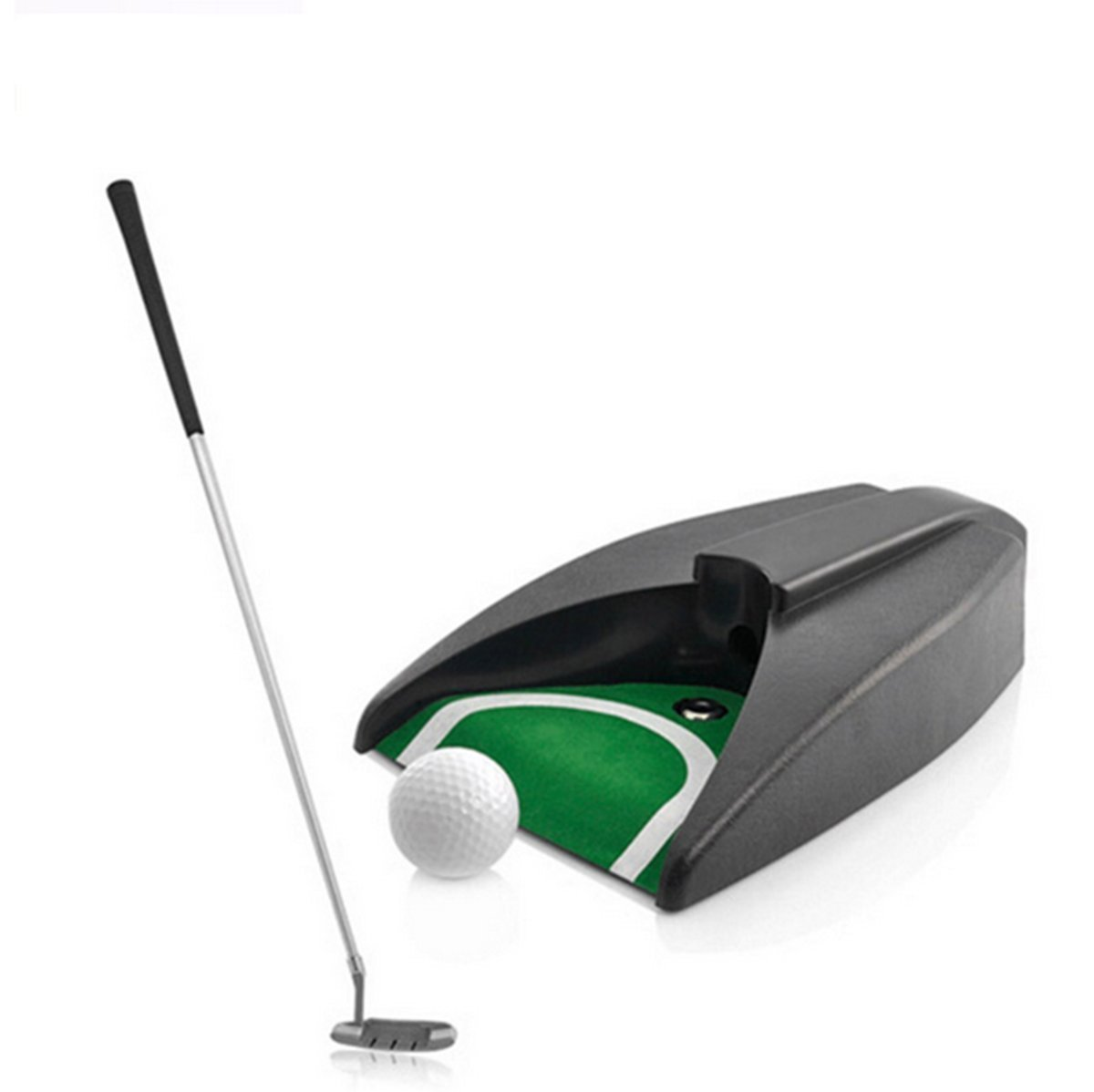 Yosooo Automatic Putt Return Machine Training Golf Ball Kick Back Return Putting Cup Device Golf Auto Return System for Golf Practice Indoor Outdoor Yard Office