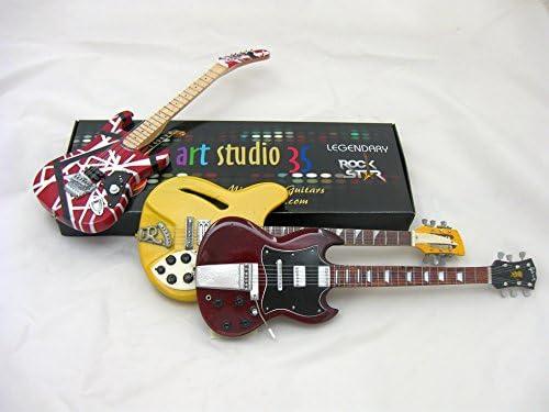 STEVIE RAY VAUGHAN Miniature Guitar SRV Custom w//Guitar Pick
