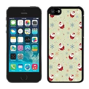 Best Buy Design lovely Iphone 5C TPU Case Cartoon Santa Claus Black iPhone 5C Case 1