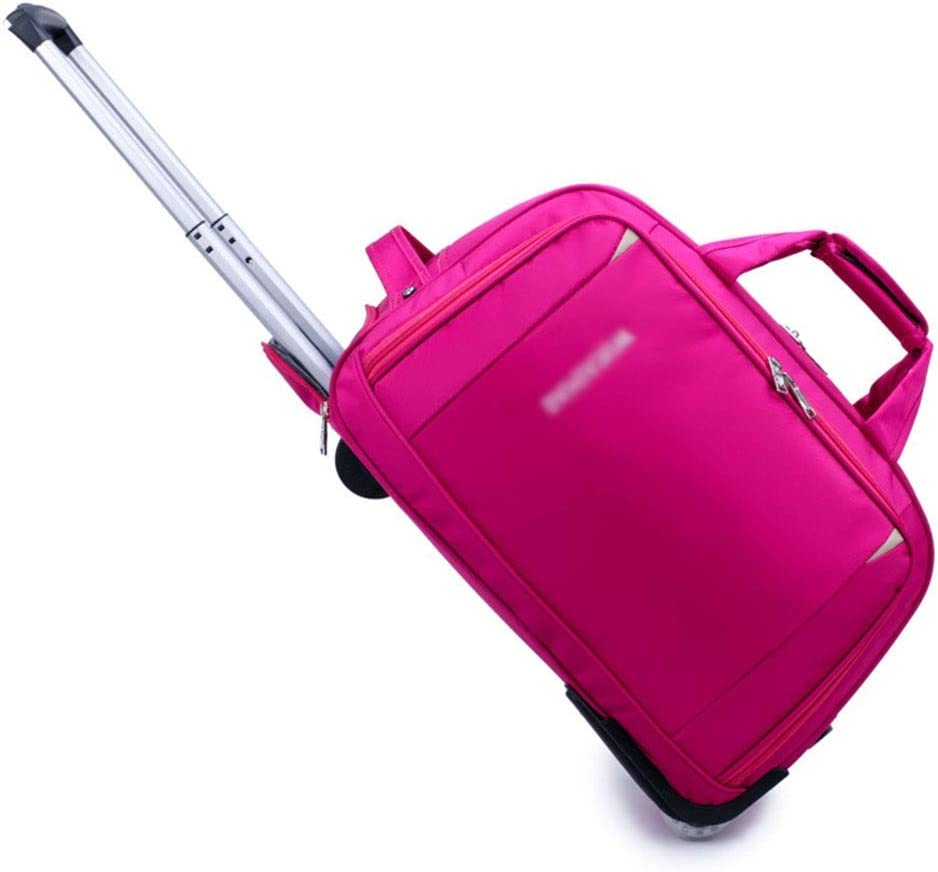 Color : Pink, Size : 273151 Travel Bags Trolley Case High Capacity Foldable Boarding Handle Luggage Suitcases Carry On Hand Luggage Durable Hold Tingting