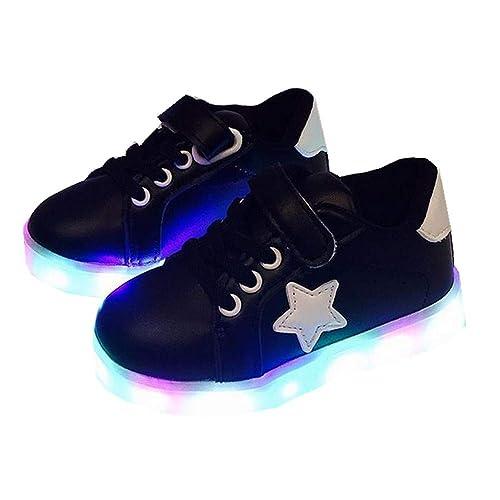 edv0d2v266 Children Boys Girls Kids LED Light Up Sneakers Baby Toddler Running Shoes