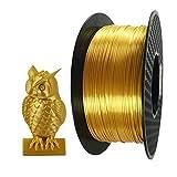Silk Gold 3D Printer PLA Filament 1.75 mm 1 KG (2.2 LBS) Spool 3D Printing Material CC3D Shine Silky Shiny PLA Metal Gold Like Metallic PLA Filament