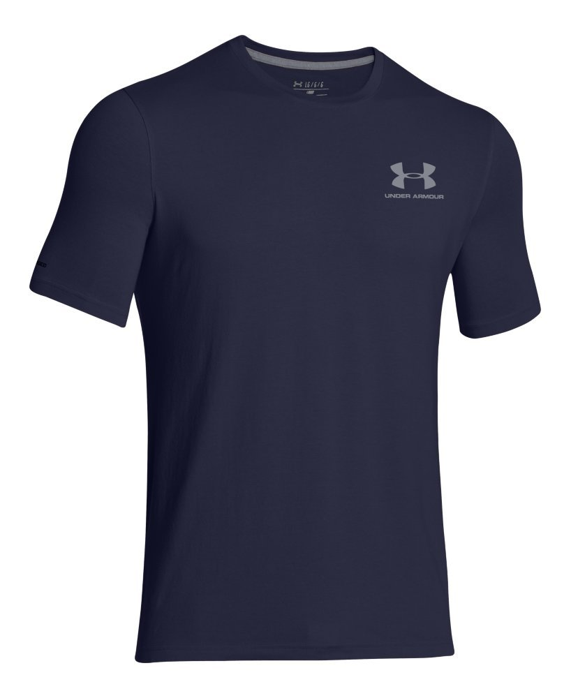 Under Armour Men's Charged Cotton Left Chest Lockup T-Shirt, Midnight Navy /Steel, XXX-Large by Under Armour (Image #4)