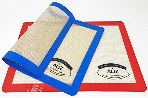 Baking Mats Silicone 2 Pack Baking Sheets ,Half Sheet Size 16.5