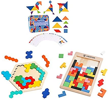 Amazon Com Usatdd Wooden Montessori Puzzle Bundle Early Learning Educational Airplane Car Travel Game For Baby Toddlers Kid Toys Games