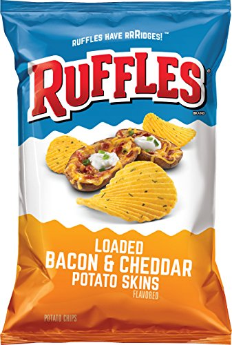 Price comparison product image Ruffles Loaded Bacon & Cheddar Flavored Potato Chips, 8.5 Ounce