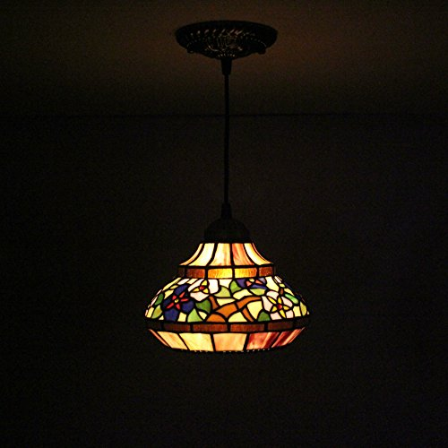 ALUK 8 inch Tiffany European pastoral retro glass chandelier
