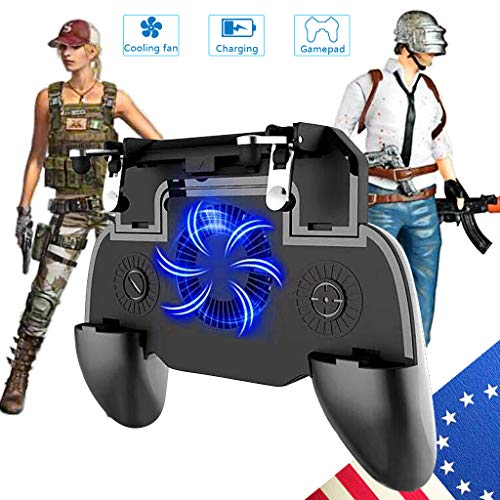 Mobile Game Controller Mobile Gaming Trigger for PUBG/Fortnite/Rules of Survival Gaming Grip and Gaming Joysticks for 4.5-6.5inch Android iOS Phone