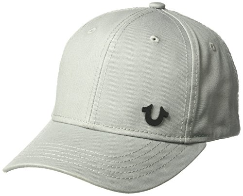 True Religion Men's UK Core Logo Baseball Cap, Factory Grey, - Designer Shops Uk