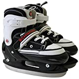 Pacific Cycle 04SW77981-2 Retro Semi-Soft Adjustable Ice Skate, Medium (3-6)