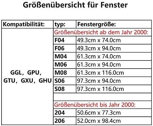 - /équip/é de rails de guidage lat/éraux en de la toile de couleur Rouge largeur x longueur 94x160cm partie ext/érieure Store pour fen/être de toit Velux GGU // GGL // GPU // GPL // GHU // GHL // GTU // GTL // GXU // GXL P10 verso