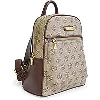 Adrienne Vittadini Signature Medium Backpack (Tan)