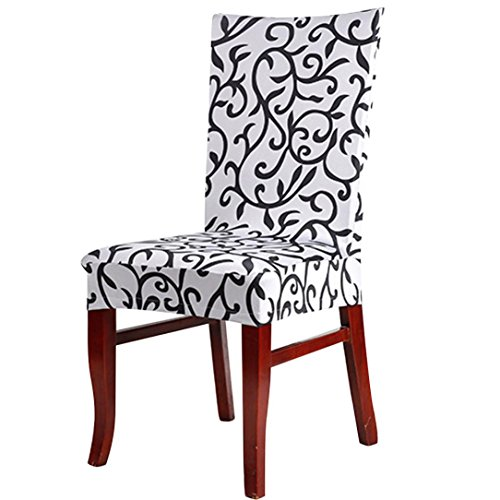 Gotd Multicolored Modern Floral Spandex Stretch Banquet Slipcovers Dining Room Wedding Party Short Chair Covers - Slipcover E-frame