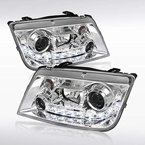 Autozensation For Volkswagen Jetta Bora Chrome R8 Style LED Projector Headlights