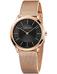 Unisex Minimal Extension Watch - K3M2262Y Black/Rose Gold One Size