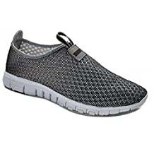 CONER Men & Women's Breathable Mesh Running Sneakers Outdoosr Slip-on Beach Aqua Shoes