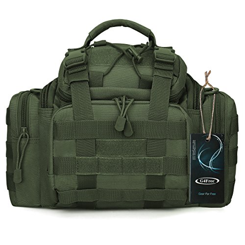 Tactical Butt Pack - G4Free Sport Outdoor Travel Waist Pack Hiking Fanny Pack Tactical Bag Camera Bag (Green)