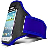 Blue Armband For Samsung Galaxy S3 / S4  / S5 / S6 / S6 Edge / Galaxy S7 Running Armband Cover Case Holder Gym Workout Sport