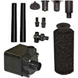 Beckett Corporation Pond Pump Kit with Prefilter and Nozzles, 600 GPH