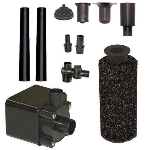 Beckett Corporation Pond Pump Kit with Prefilter and Nozzles, 680 GPH (Submersible Fountain Pump Kit)