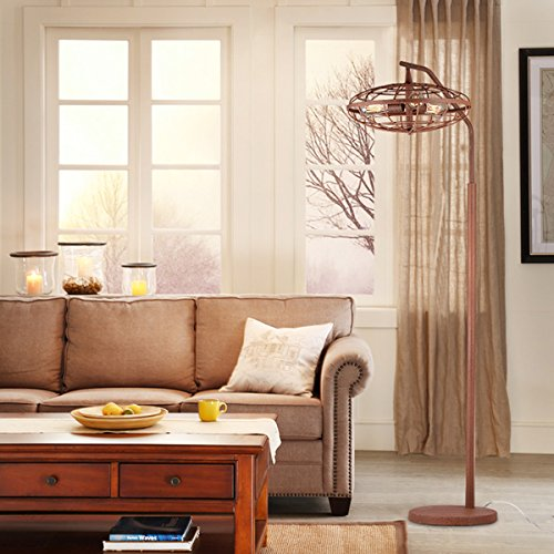 Speckled Pendant Lamp (Warehouse of Tiffany Pioko Speckled Copper Caged Floor Lamp Metal Finish)