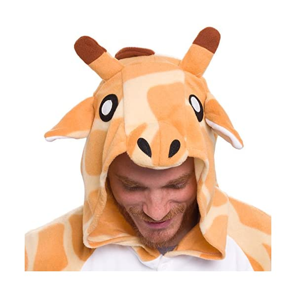 Silver Lilly Giraffe One Piece Animal Costume Unisex Adult Plush Cosplay Pajamas