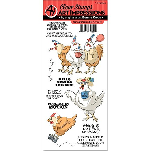 Art Impressions Unmounted Clear Stamps, Spring Chicken by Art impressions (Image #1)