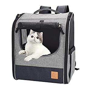 OPENROAD Deluxe Pet Carrier Backpack for Small Cats and Dogs, Puppies | Ventilated Design, Two-Sided Entry, Safety…
