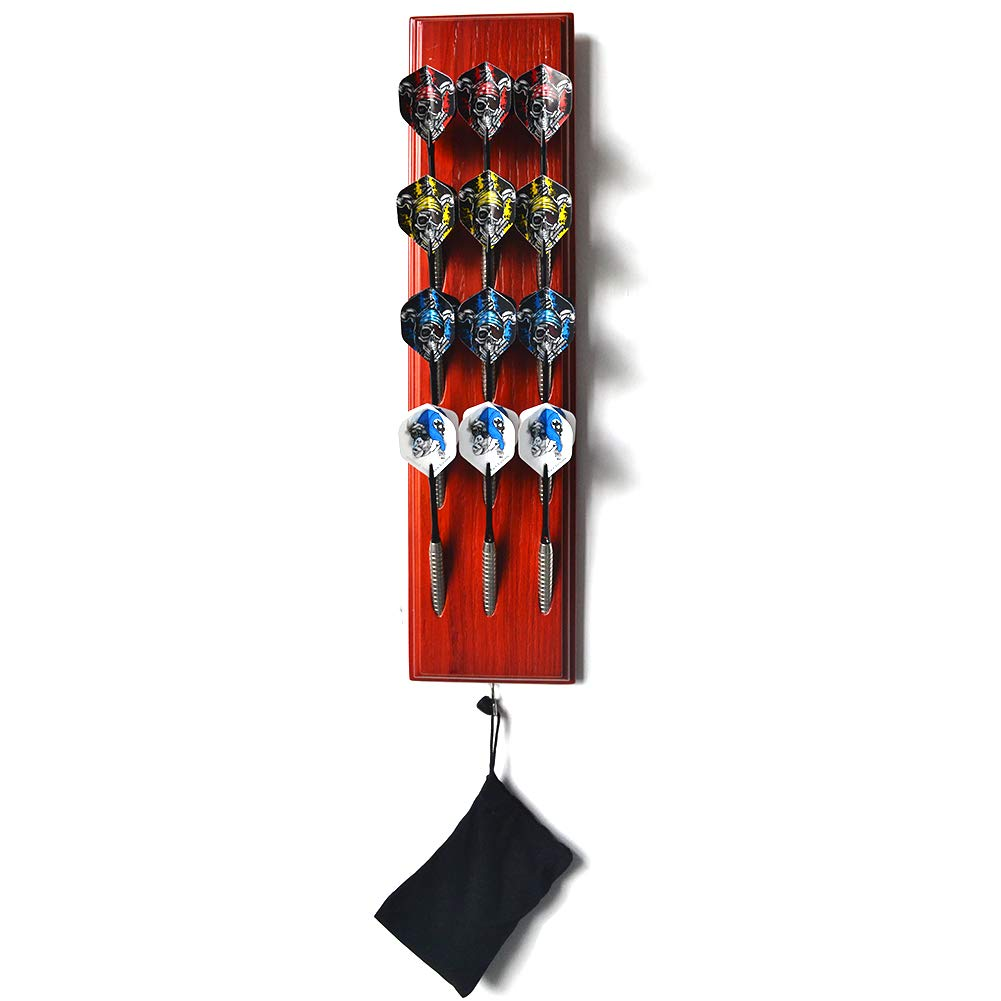 Gallop Chic Almacenamiento de Dardos-Estante de Dardos de Madera,12 Dardos Pueden ser almacenados(Dardos de Acero/Dardos de plástico)