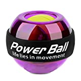 Flykul LED Wrist Ball, Spinner Gyroscopic Power Ball Workout Toy – Wrist and Forearm Exerciser Arm Strengthener Wrist Trainer Power Ball (Purple) Review