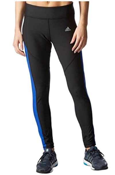 9d891ec3330 Amazon.com : Adidas Womens Ultimate Fleece Climawarm Running Tights Pants,  Blk/Blue, Small : Clothing