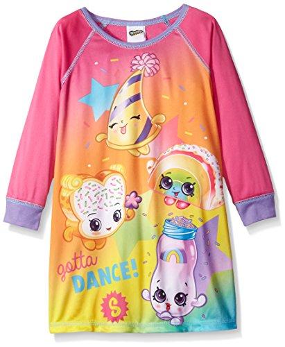 Shopkins Girls Big Sleep Nightgown, Rainbow/Long Sleeve, 8