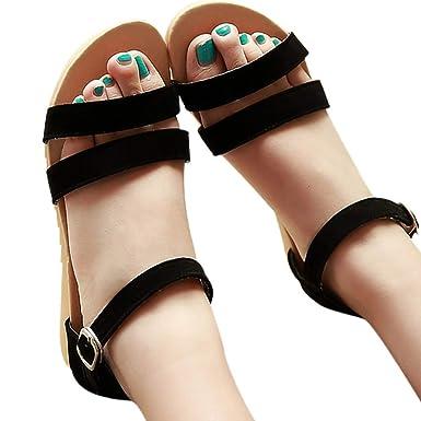 363f2f93ed7b9 Amazon.com: Amlaiworld Summer Women Open Toe Sandals Contrast ...