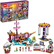 LEGO Friends Heartlake City Amusement Pier 41375 Toy Rollercoaster Building Kit with Mini Dolls and Toy Dolphi