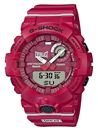 (Casio GBA800EL-4A Limited Edition Everlast G-Shock Men's Watch Red 54.1mm Resin)