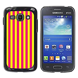 Design for Girls Plastic Cover Case FOR Samsung Galaxy Ace 3 Vertical Lines Bright Yellow Purple OBBA