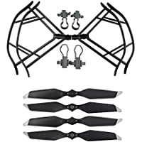 Upgraded Propellers for DJI Mavic Pro 8331 8331F Low-Noise Quick-release Folding Propellers Prop Guard Bumper Rc Quadcopter Spare Part Set (Black-Black-Silver)